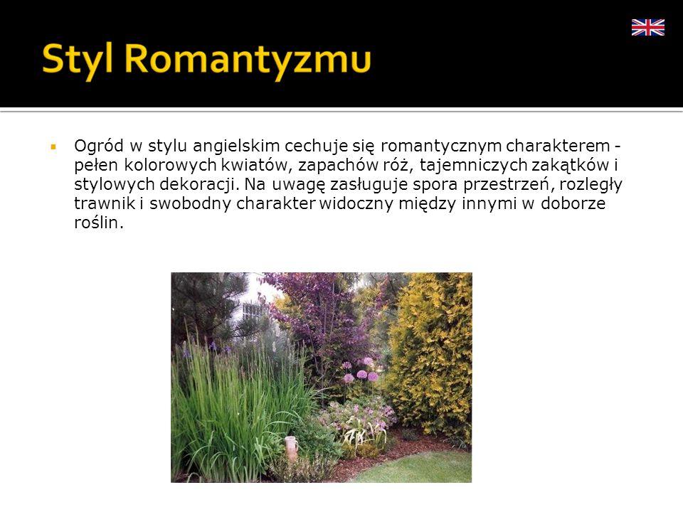 Ogród w stylu angielskim cechuje się romantycznym charakterem - pełen kolorowych kwiatów, zapachów róż, tajemniczych zakątków i stylowych dekoracji.