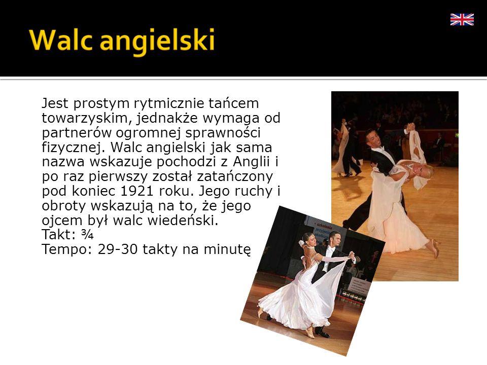 Jest prostym rytmicznie tańcem towarzyskim, jednakże wymaga od partnerów ogromnej sprawności fizycznej.