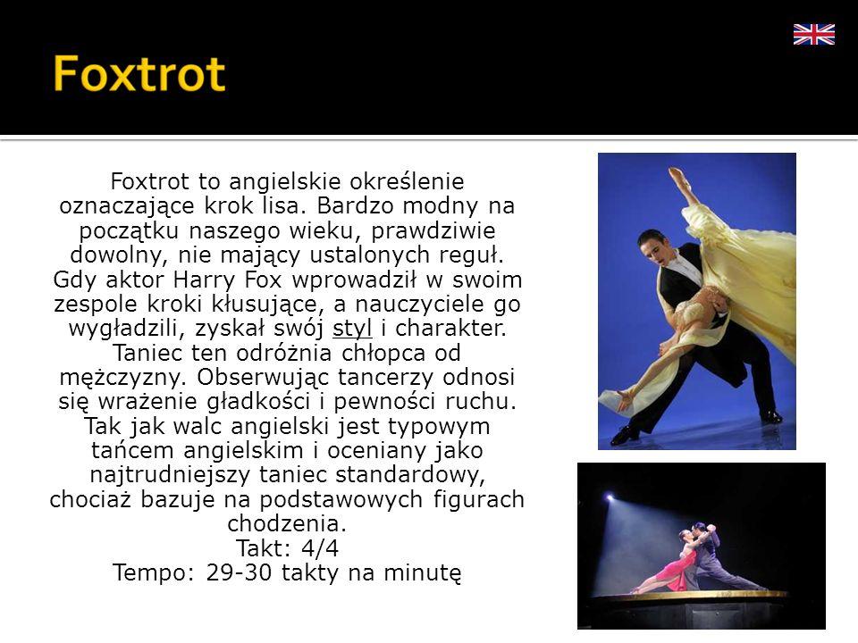 Foxtrot to angielskie określenie oznaczające krok lisa