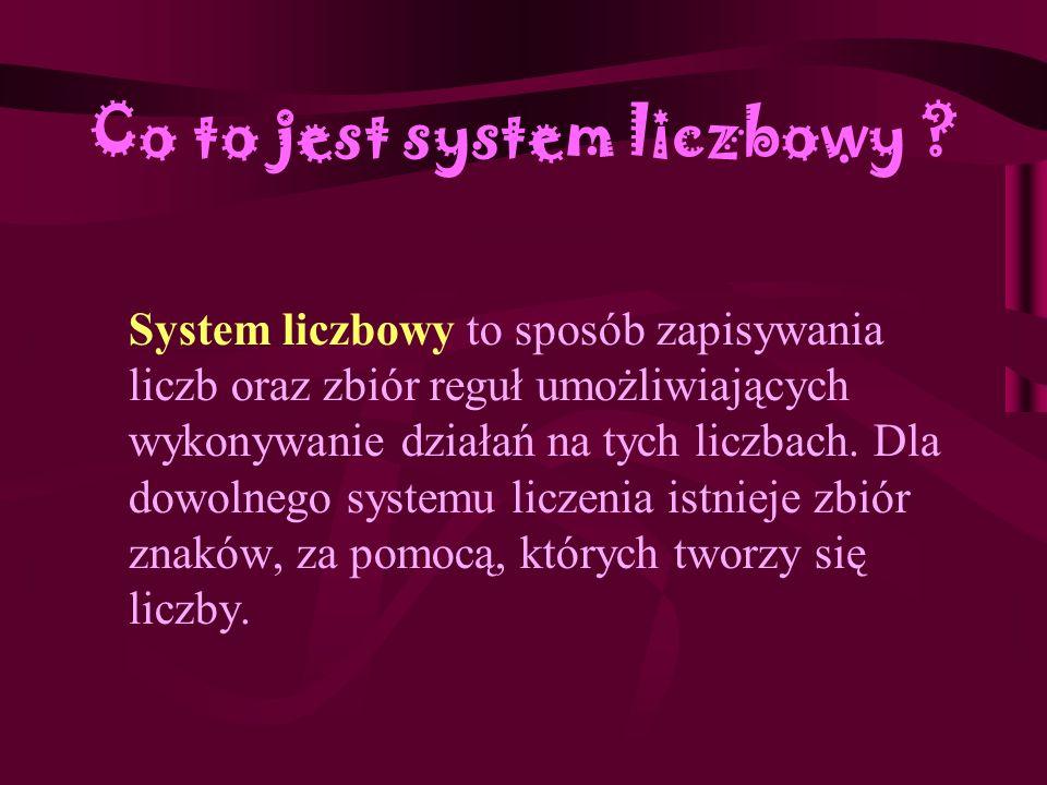 Co to jest system liczbowy