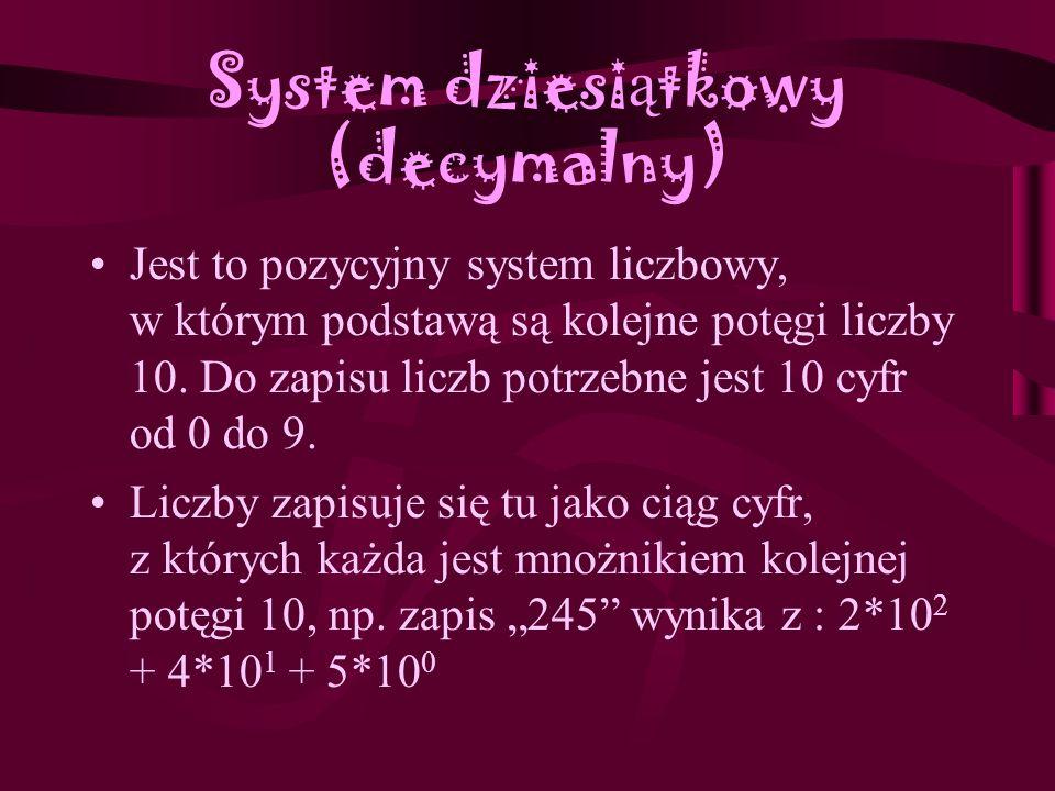 System dziesiątkowy (decymalny)