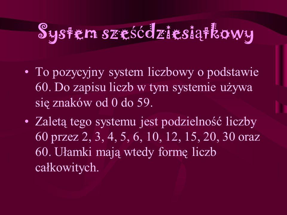 System sześćdziesiątkowy