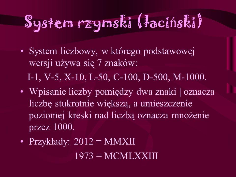 System rzymski (łaciński)