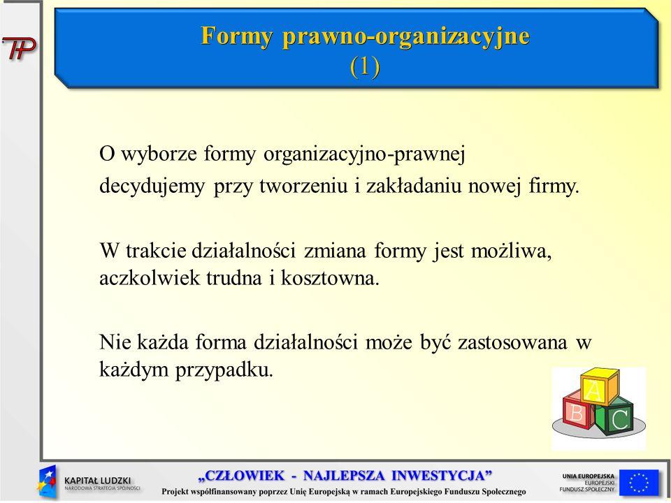 Formy prawno-organizacyjne (1)