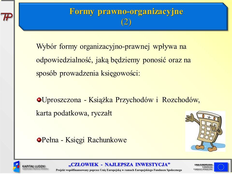 Formy prawno-organizacyjne (2)
