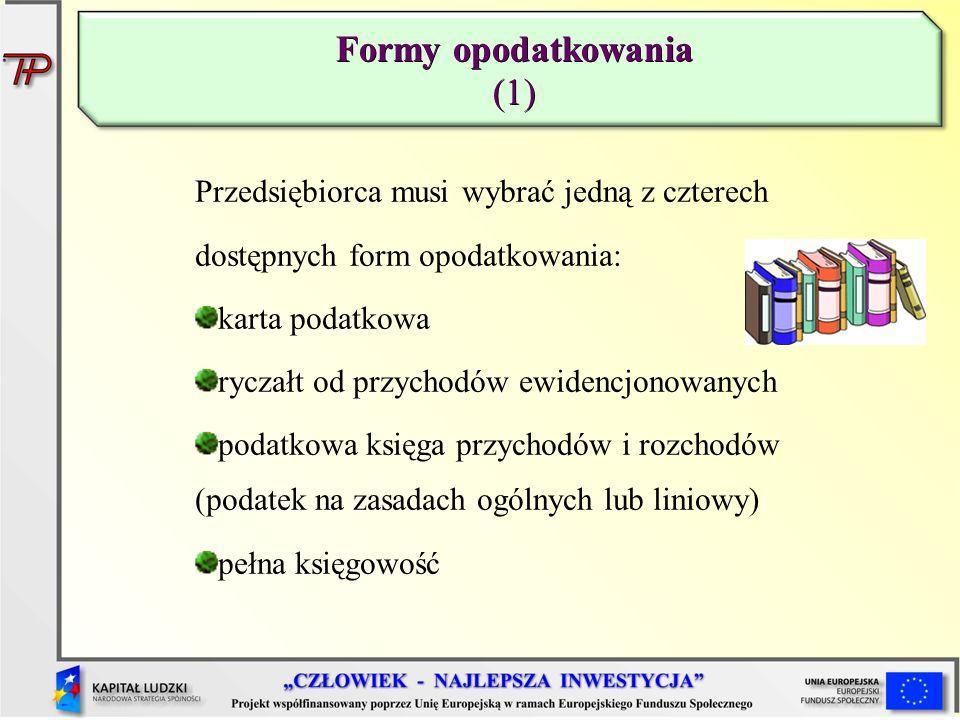 Formy opodatkowania (1)