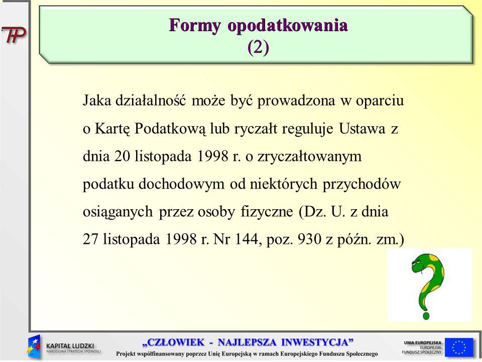 Formy opodatkowania (2)