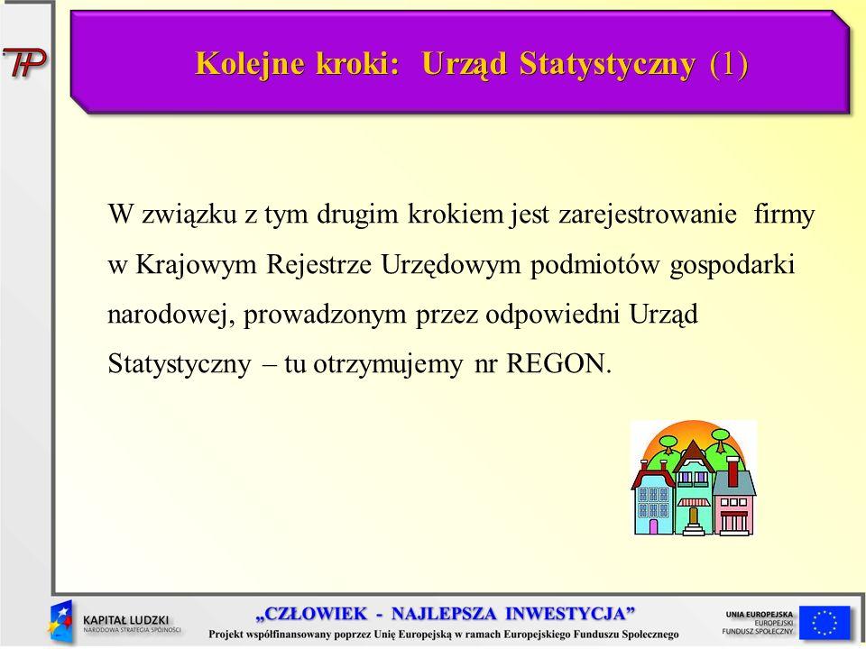 Kolejne kroki: Urząd Statystyczny (1)