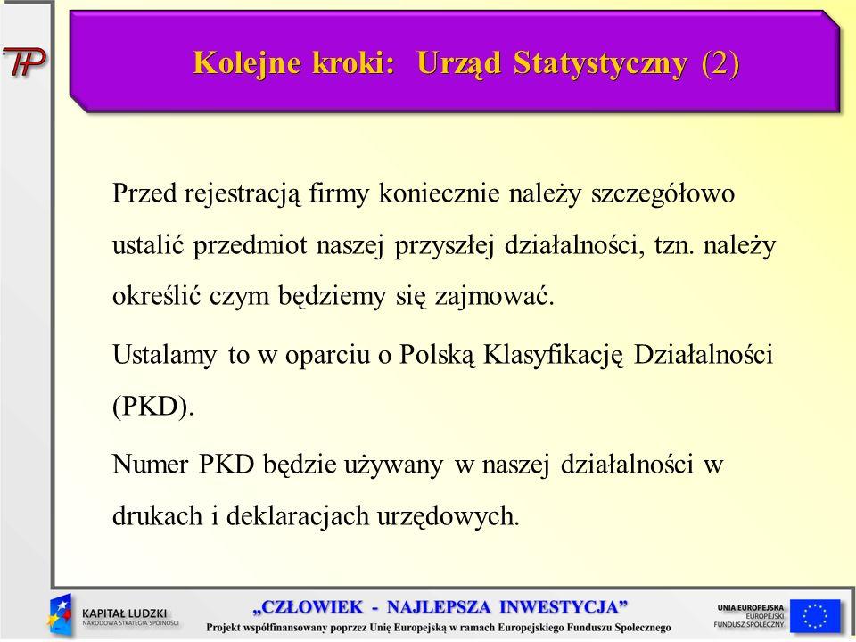 Kolejne kroki: Urząd Statystyczny (2)