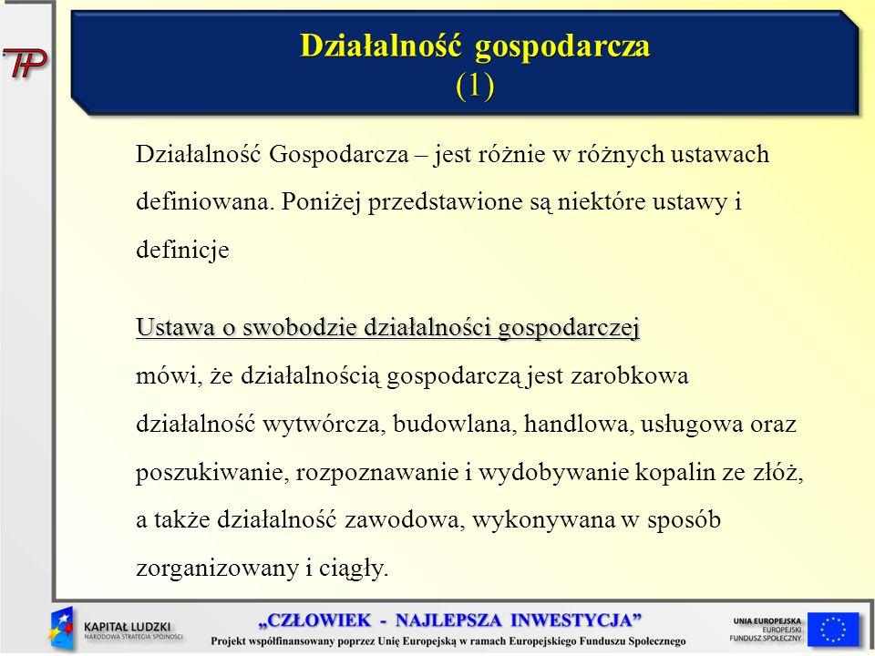Działalność gospodarcza (1)