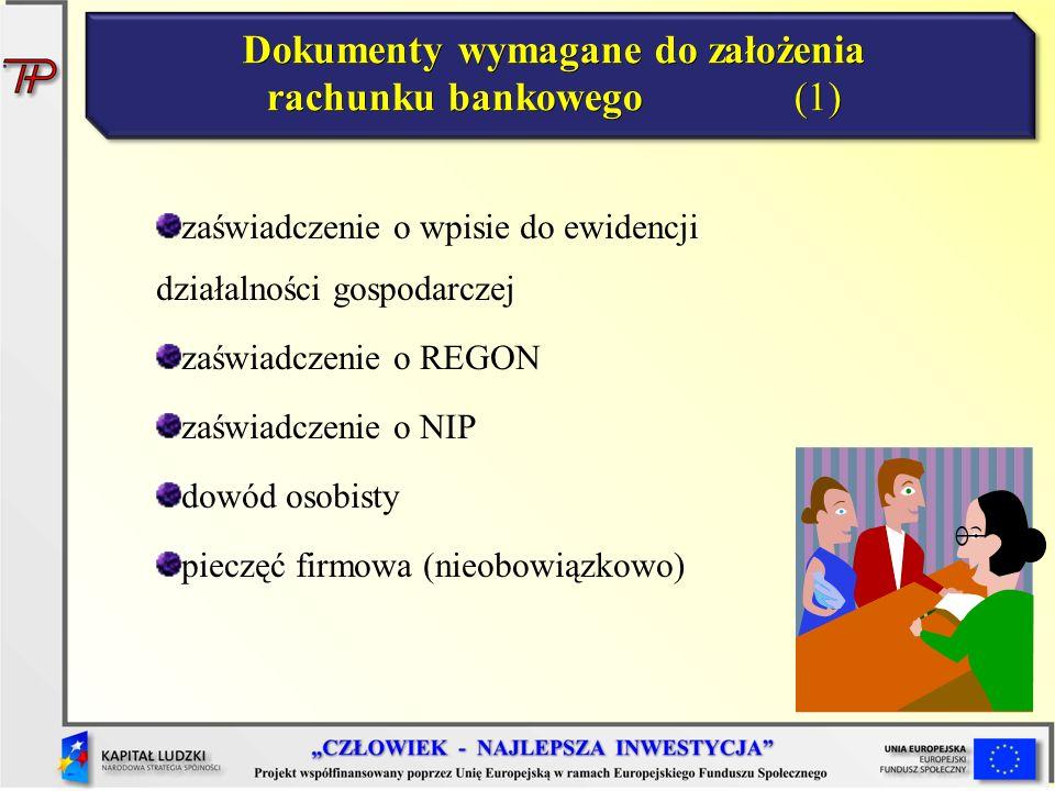 Dokumenty wymagane do założenia rachunku bankowego (1)