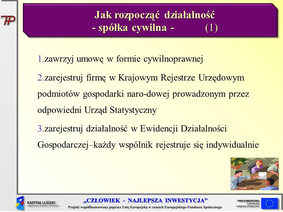 Jak rozpocząć działalność - spółka cywilna - (1)