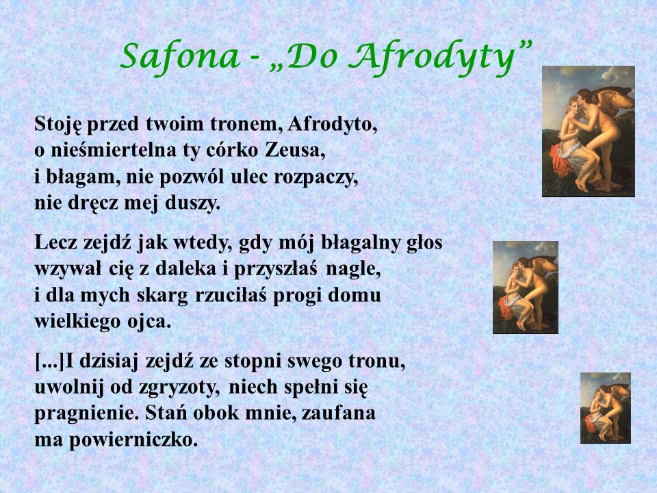 "Safona - ""Do Afrodyty"