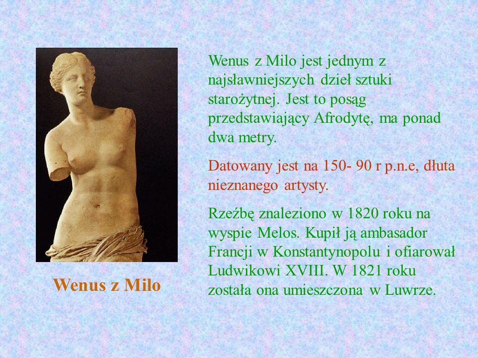 Wenus z Milo jest jednym z najsławniejszych dzieł sztuki starożytnej