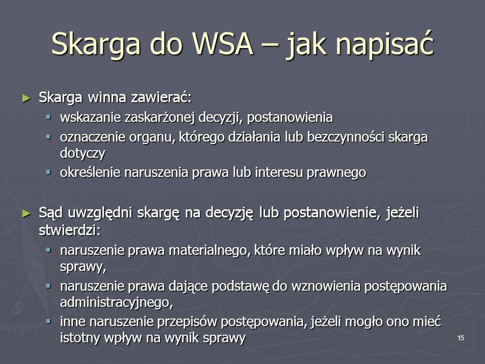 Skarga do WSA – jak napisać