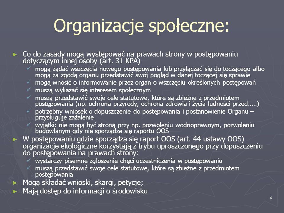 Organizacje społeczne: