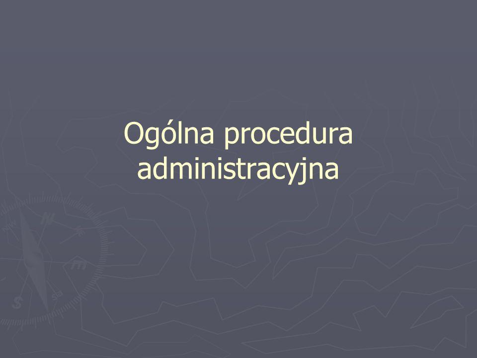 Ogólna procedura administracyjna