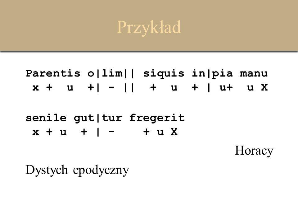 Przykład Horacy Dystych epodyczny