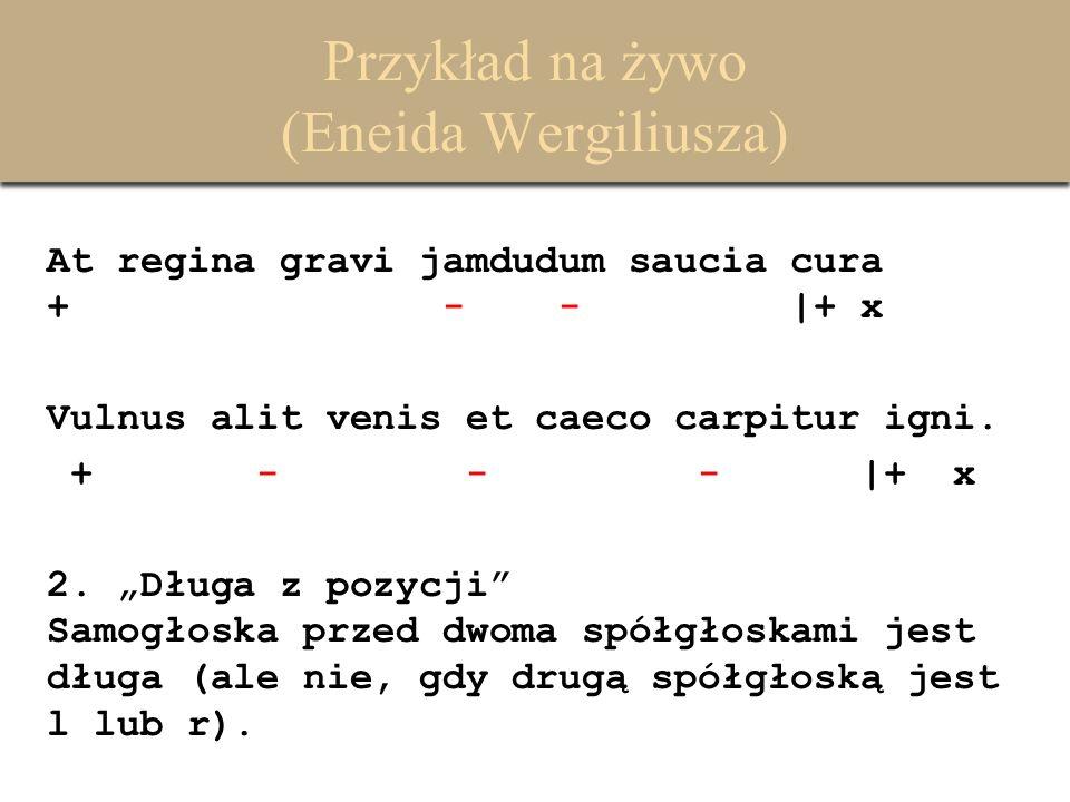 Przykład na żywo (Eneida Wergiliusza)