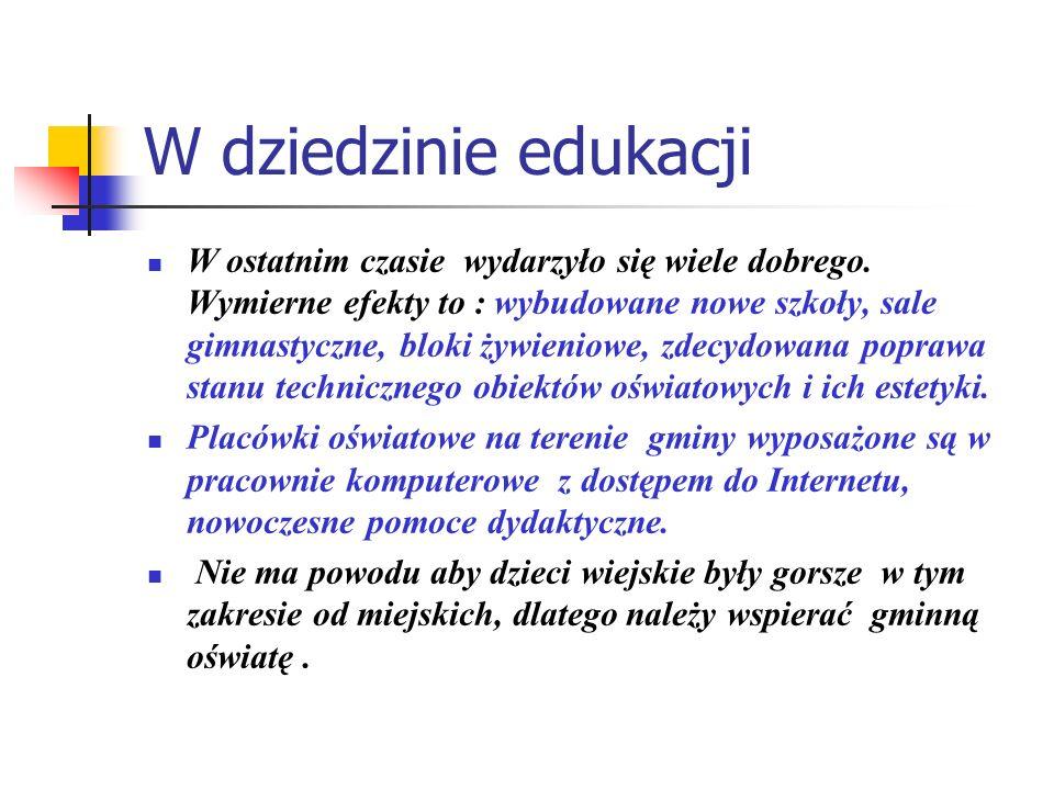 W dziedzinie edukacji