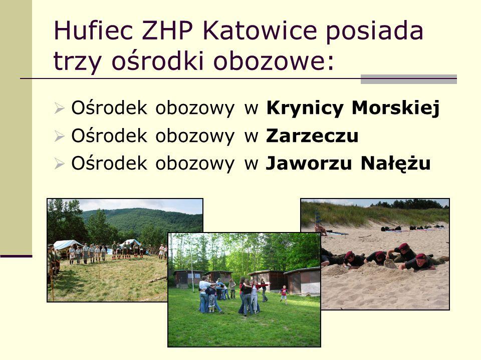 Hufiec ZHP Katowice posiada trzy ośrodki obozowe:
