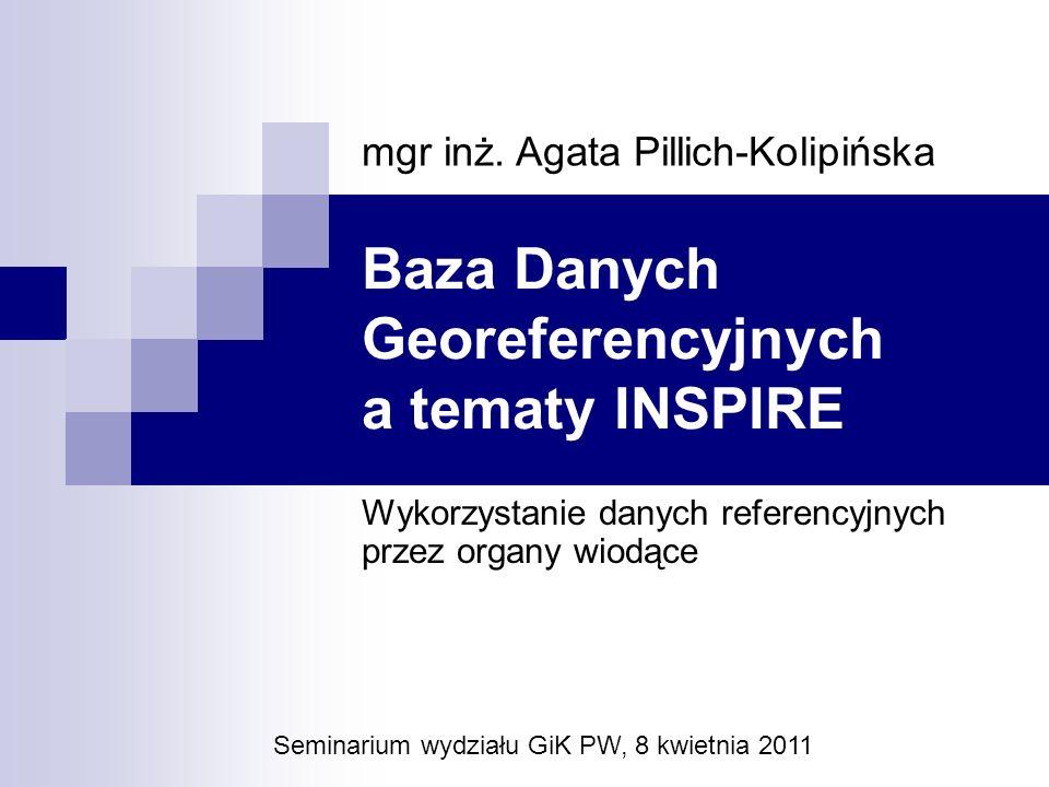 Baza Danych Georeferencyjnych a tematy INSPIRE