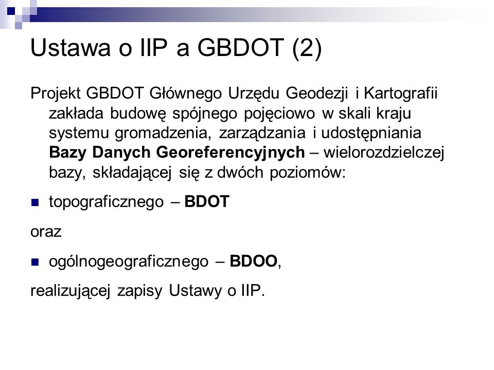 Ustawa o IIP a GBDOT (2)