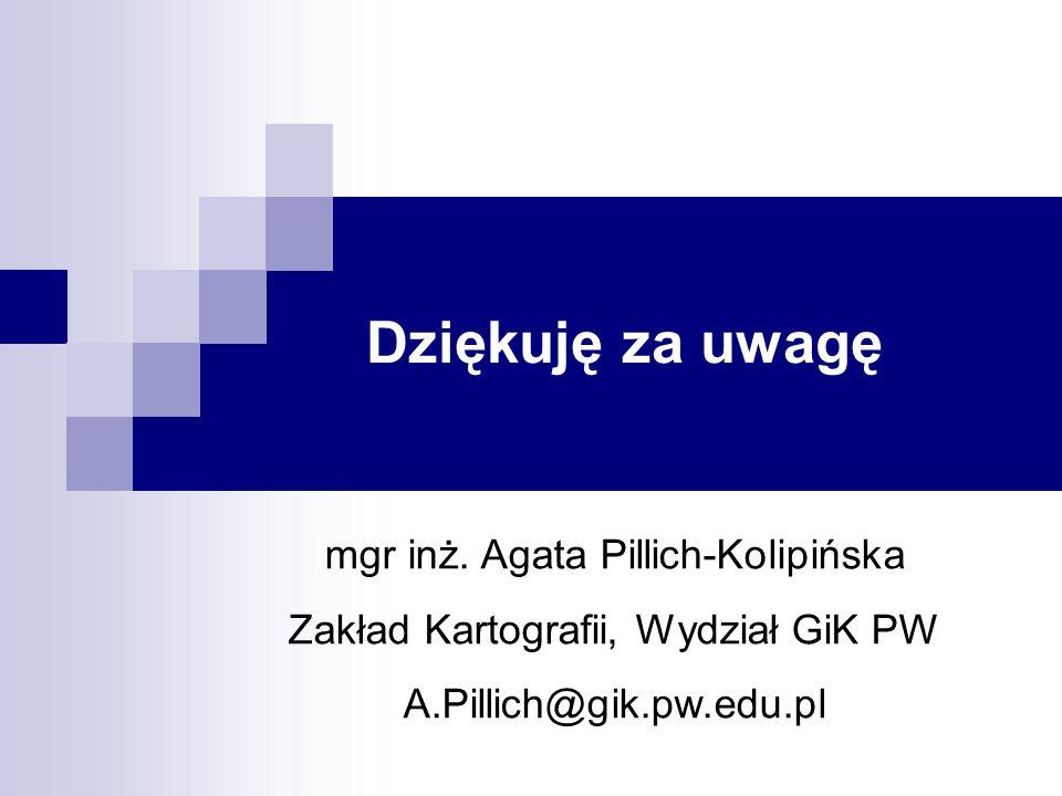 Dziękuję za uwagę mgr inż. Agata Pillich-Kolipińska
