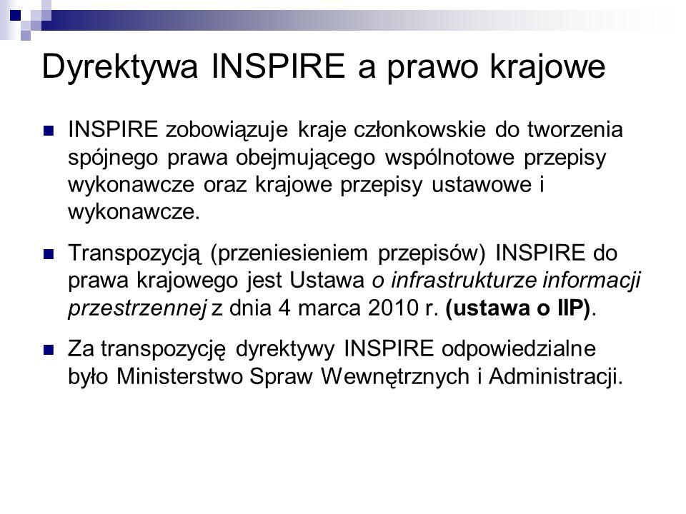 Dyrektywa INSPIRE a prawo krajowe