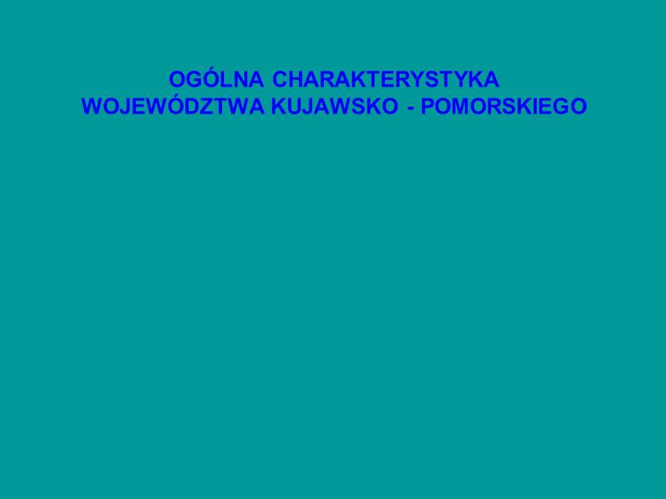 OGÓLNA CHARAKTERYSTYKA WOJEWÓDZTWA KUJAWSKO - POMORSKIEGO