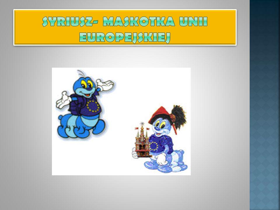 SYRIUSZ- MASKOTKA Unii Europejskiej