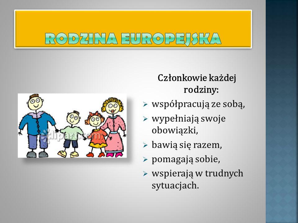 Członkowie każdej rodziny: