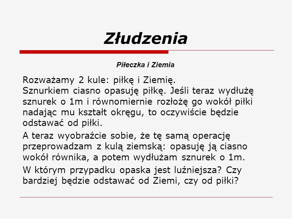 Złudzenia Piłeczka i Ziemia.