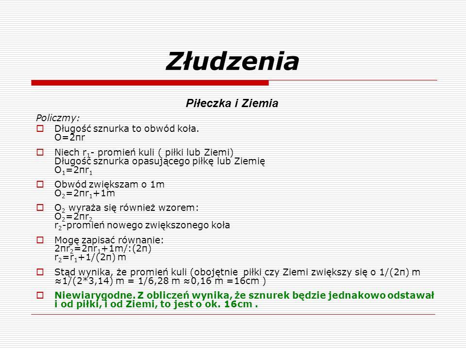 Złudzenia Piłeczka i Ziemia Policzmy:
