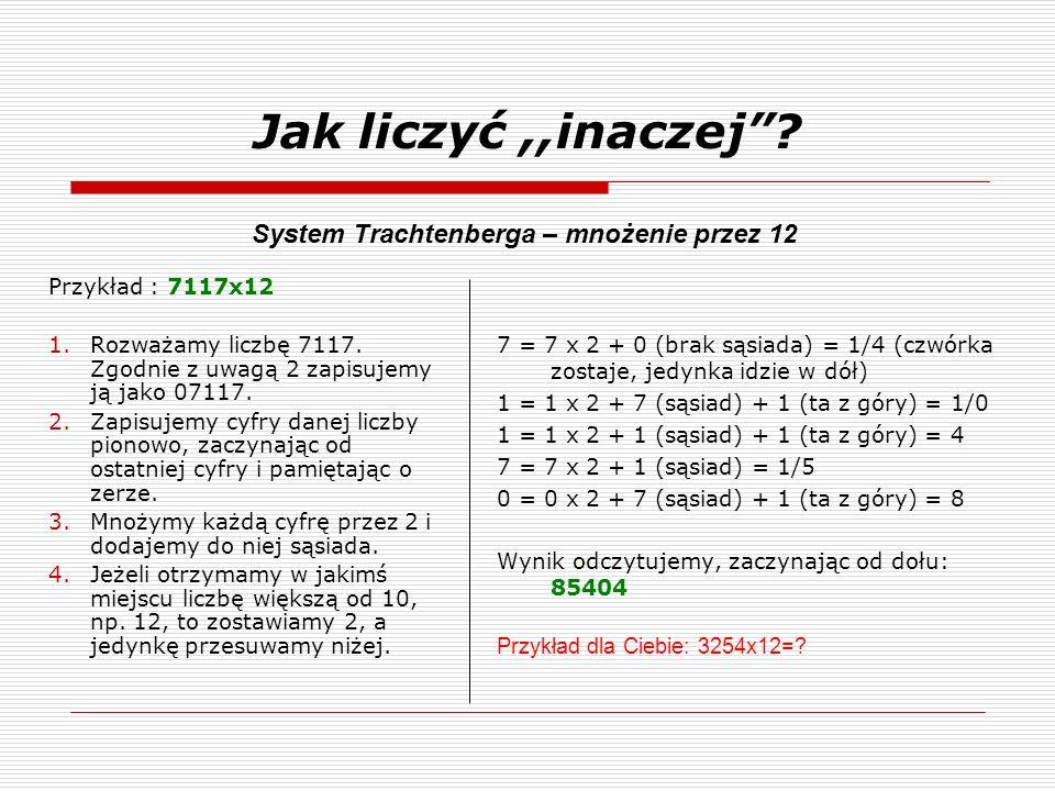 System Trachtenberga – mnożenie przez 12