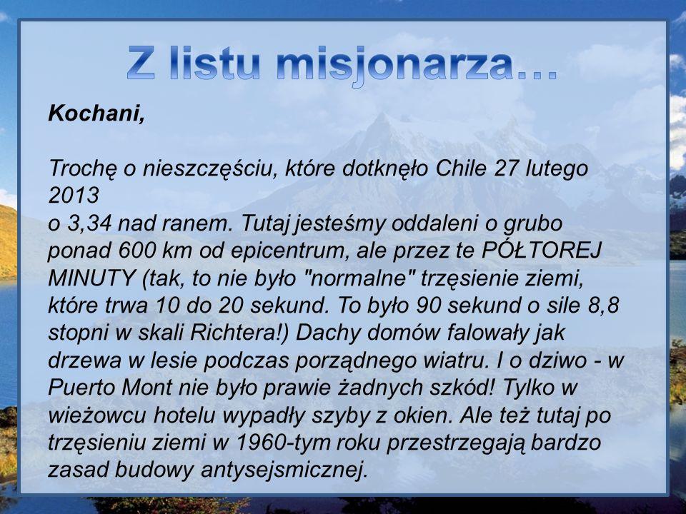 Z listu misjonarza… Kochani,