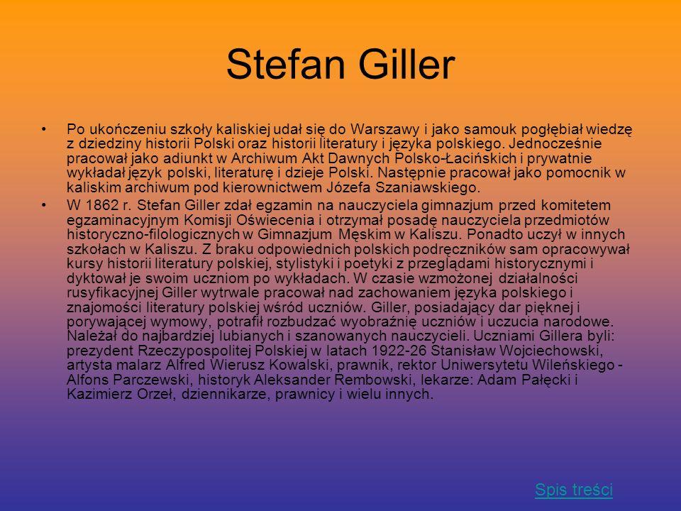 Stefan Giller Spis treści