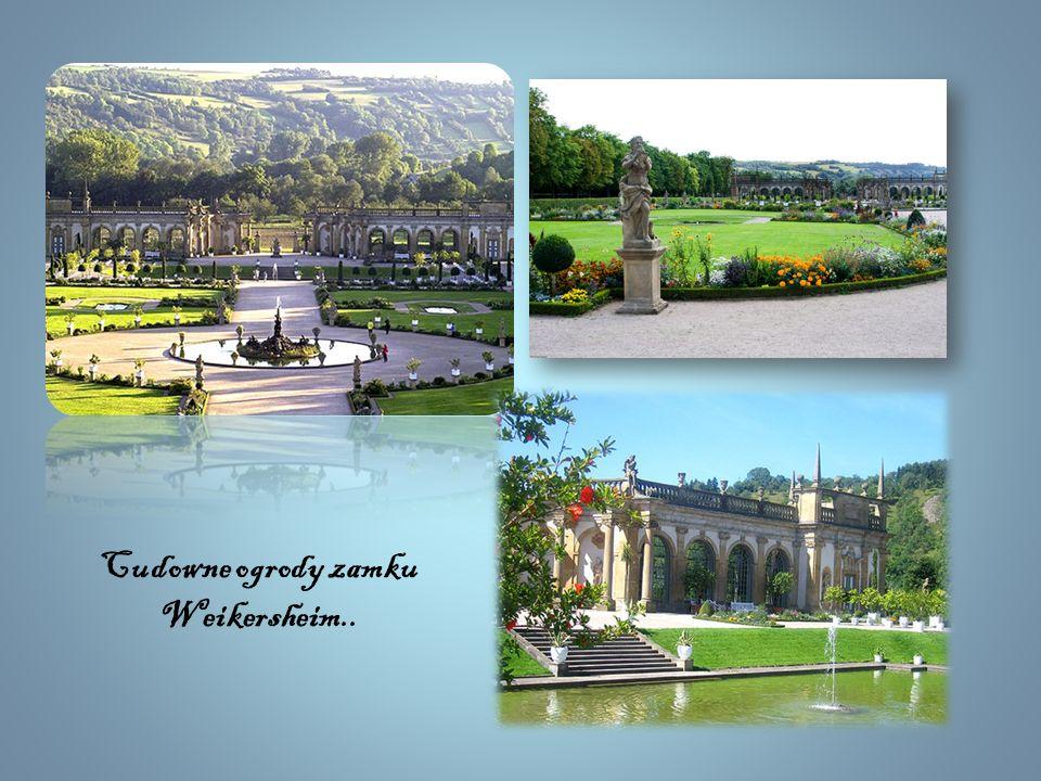 Cudowne ogrody zamku Weikersheim..