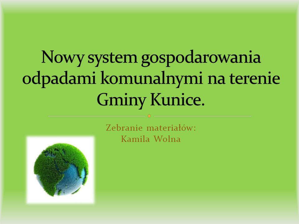 Zebranie materiałów: Kamila Wolna