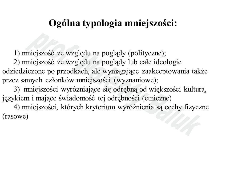 Ogólna typologia mniejszości: