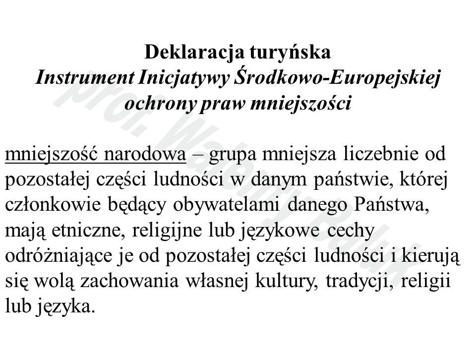 Instrument Inicjatywy Środkowo-Europejskiej ochrony praw mniejszości