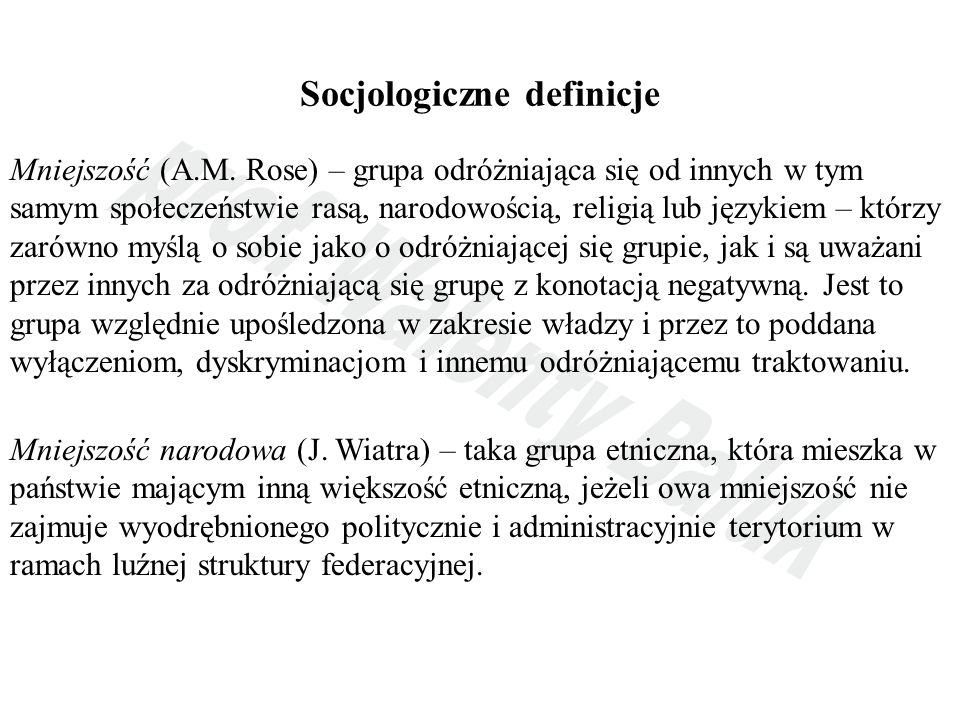 Socjologiczne definicje