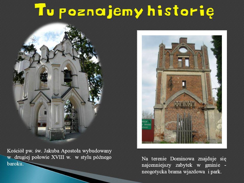 Tu poznajemy historię Kościół pw. św. Jakuba Apostoła wybudowany w drugiej połowie XVIII w. w stylu późnego baroku.