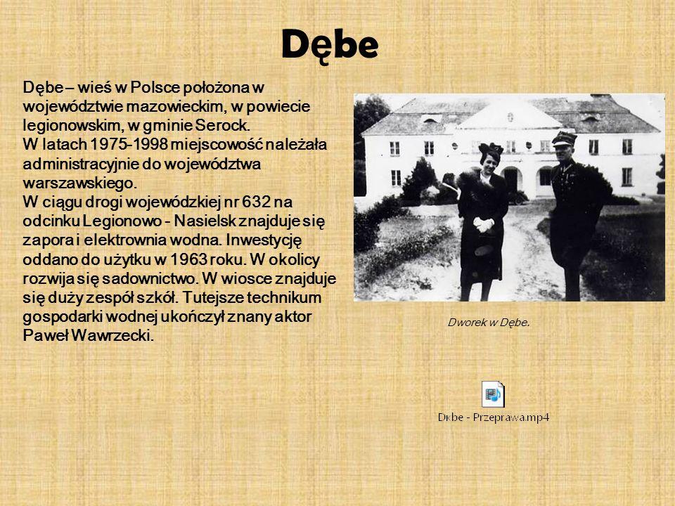 Dębe Dębe – wieś w Polsce położona w województwie mazowieckim, w powiecie legionowskim, w gminie Serock.