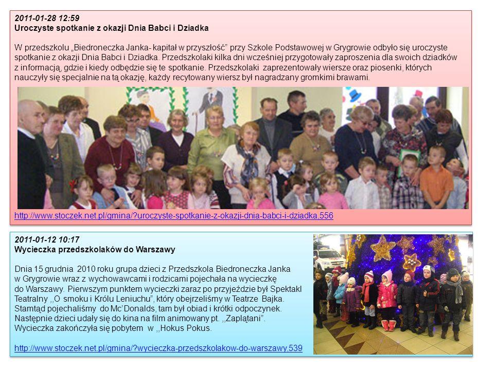 2011-01-28 12:59 Uroczyste spotkanie z okazji Dnia Babci i Dziadka.