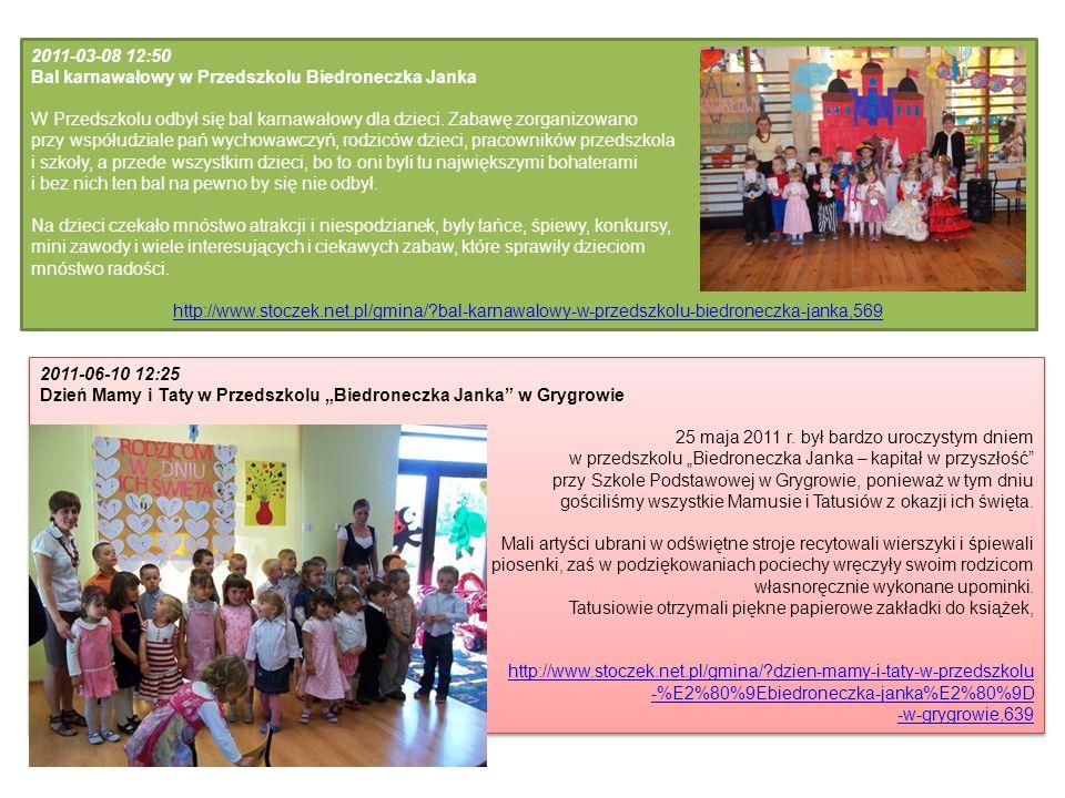 2011-03-08 12:50 Bal karnawałowy w Przedszkolu Biedroneczka Janka. W Przedszkolu odbył się bal karnawałowy dla dzieci. Zabawę zorganizowano.
