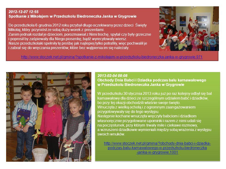 2012-12-07 12:55 Spotkanie z Mikołajem w Przedszkolu Biedroneczka Janka w Grygrowie.