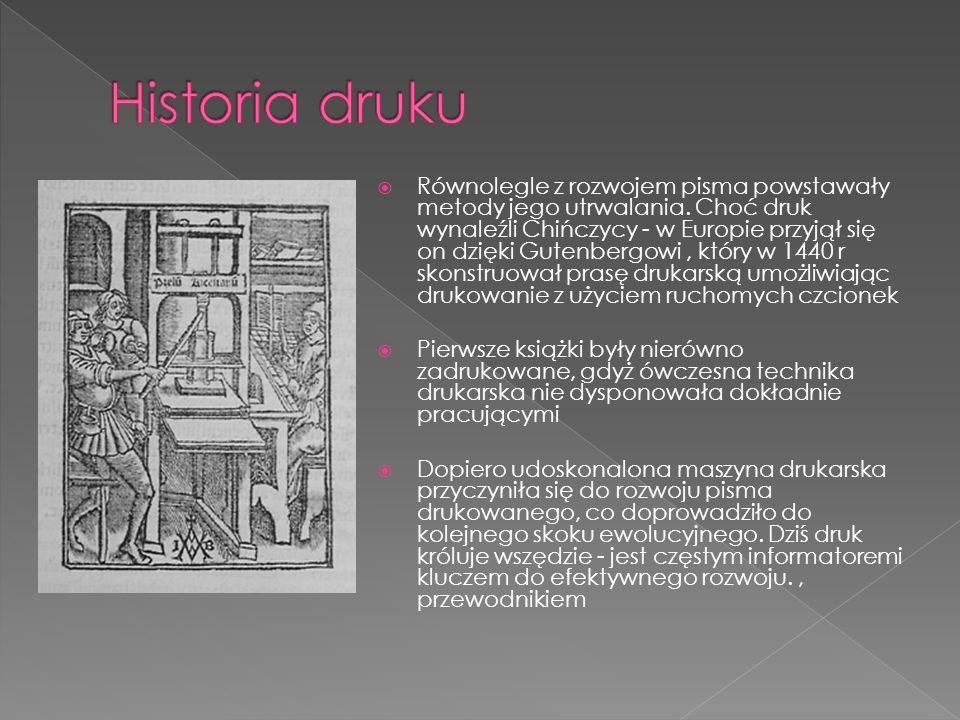 Historia druku