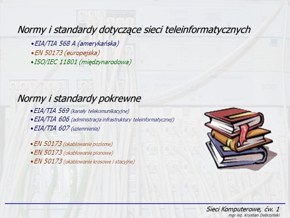 Normy i standardy dotyczące sieci teleinformatycznych