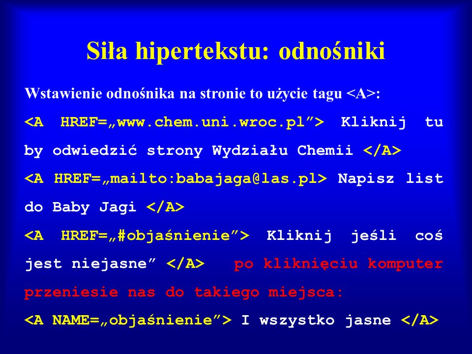 Siła hipertekstu: odnośniki